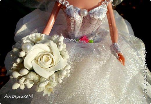 Здравствуйте, мои дорогие рукодельницы, я к вам вгости со своими новыми работами. Начнут обзор с Прекрасной Невесты. Мне заказали куклу в первый, и я искренне надеюсь, в последний раз. Сколько крови выпила у меня эта Невеста- не пересказать словами.... фото 2