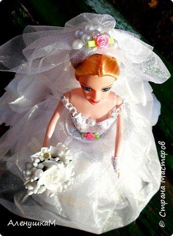 Здравствуйте, мои дорогие рукодельницы, я к вам вгости со своими новыми работами. Начнут обзор с Прекрасной Невесты. Мне заказали куклу в первый, и я искренне надеюсь, в последний раз. Сколько крови выпила у меня эта Невеста- не пересказать словами.... фото 1