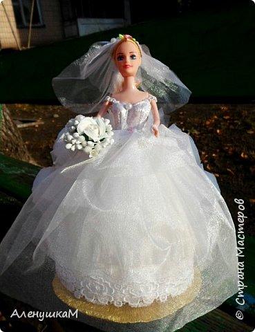 Здравствуйте, мои дорогие рукодельницы, я к вам вгости со своими новыми работами. Начнут обзор с Прекрасной Невесты. Мне заказали куклу в первый, и я искренне надеюсь, в последний раз. Сколько крови выпила у меня эта Невеста- не пересказать словами.... фото 3