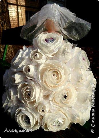 Здравствуйте, мои дорогие рукодельницы, я к вам вгости со своими новыми работами. Начнут обзор с Прекрасной Невесты. Мне заказали куклу в первый, и я искренне надеюсь, в последний раз. Сколько крови выпила у меня эта Невеста- не пересказать словами.... фото 4