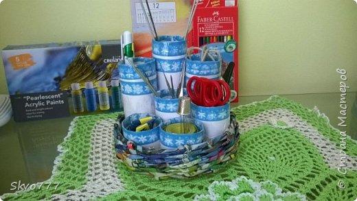 Шкатулка из картона. Декор фрагментами из салфетки,бантики из макаронных изделий фото 9
