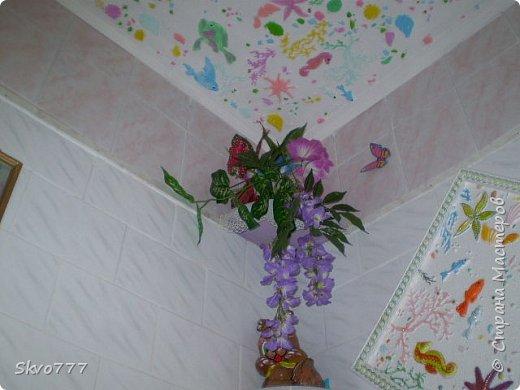 Окно в кухне. Подхваты- пряжка из картона с фольгой,штора зафиксирована обычной одноразовой ложкой Прикольно и в кухонном стиле фото 9