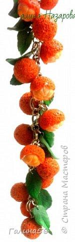 Готовимся к Новому году, народ требует мандарины, и вот такой комплект из браслета и сережек готов: фото 2