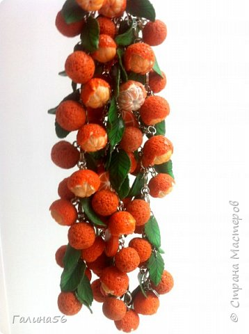 Готовимся к Новому году, народ требует мандарины, и вот такой комплект из браслета и сережек готов: фото 3