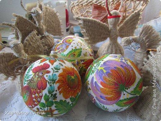 Добрый день, дорогие гости моей странички!  Из многочисленных новогодних украшений мне больше всего нравится расписывать шары и плести ангелов. фото 3