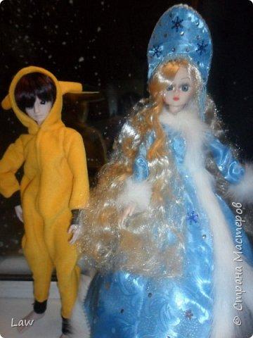 продолжаю новогоднюю тематику! ))) моя любимица Руж принарядилась в наряд Снегурочки!!  фото 8