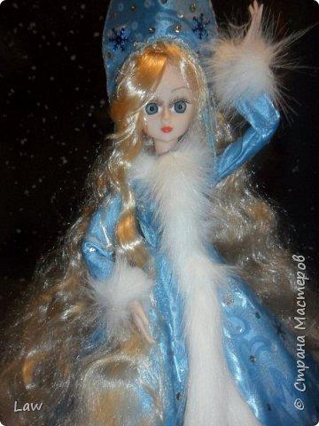продолжаю новогоднюю тематику! ))) моя любимица Руж принарядилась в наряд Снегурочки!!  фото 4