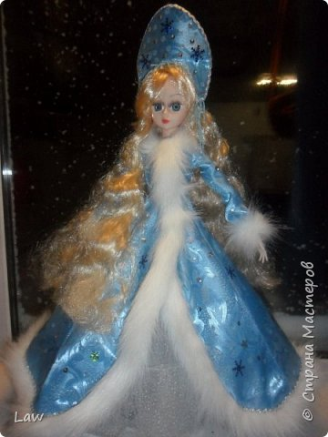 продолжаю новогоднюю тематику! ))) моя любимица Руж принарядилась в наряд Снегурочки!!  фото 1
