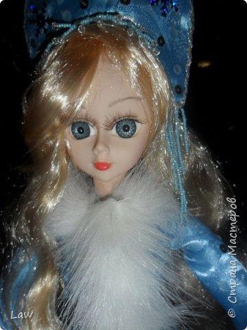 продолжаю новогоднюю тематику! ))) моя любимица Руж принарядилась в наряд Снегурочки!!  фото 6
