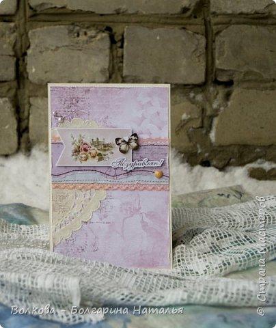Всем привет! Это конечно странно - фоткать летнюю открытку на фоне снега - но раз приспичило сделать летнюю открытку почти зимой, то куда деваться:) фото 1