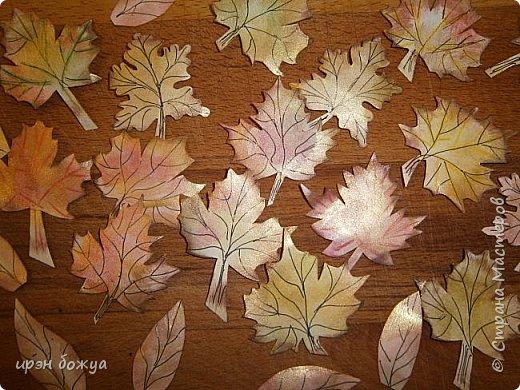 Сегодня я с шоколадницей.Вдохновитель тут http://stranamasterov.ru/node/1057689?c=favorite . Верх открытки сделан без применения фигурных дыроколов.Шаблоны листочков взяла в интернете: клен-3-х видов+самодельные цветы из бумаги для рисования. Штампик -поздравление,стразы, деревянная пуговица. фото 2