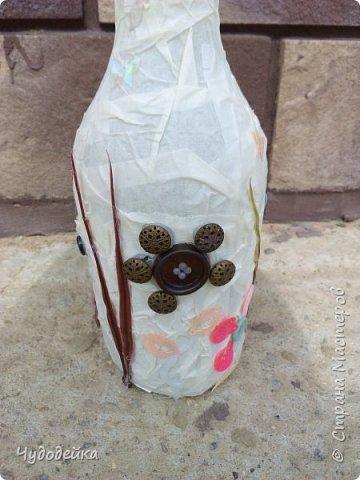 Вот такую вазу я сделала сестре на день рождение в качестве дополнительного подарка еще летом. Дальше покажу фото как я ее делала. фото 4