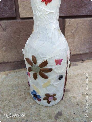 Вот такую вазу я сделала сестре на день рождение в качестве дополнительного подарка еще летом. Дальше покажу фото как я ее делала. фото 5