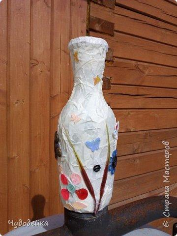 Вот такую вазу я сделала сестре на день рождение в качестве дополнительного подарка еще летом. Дальше покажу фото как я ее делала. фото 6