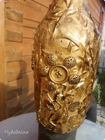 Вот такую вазу я сделала сестре на день рождение в качестве дополнительного подарка еще летом. Дальше покажу фото как я ее делала. фото 9