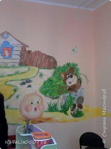 Совместная  работа  роспись стены в Детском саду. фото 3