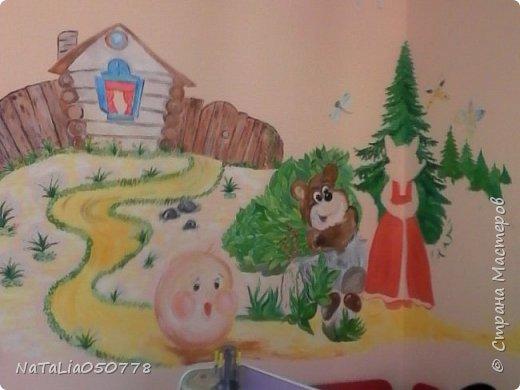 Совместная  работа  роспись стены в Детском саду. фото 4