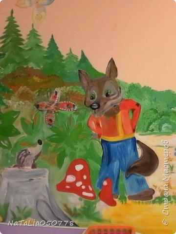Совместная  работа  роспись стены в Детском саду. фото 6