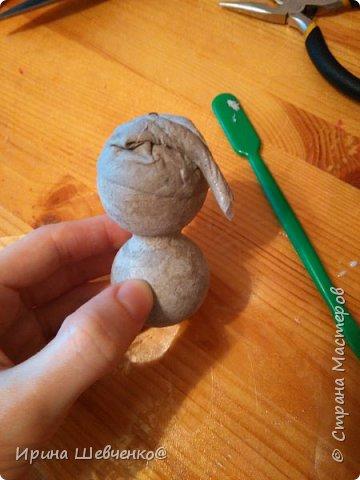 МК Снеговик на елку фото 15