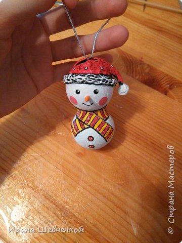 МК Снеговик на елку фото 23