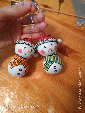 МК Снеговик на елку фото 1