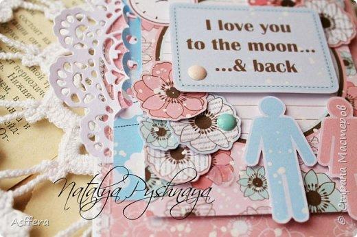 Всем привет!!!А у меня на сегодня нежная открытка!I love you to the moon...& back... фото 5