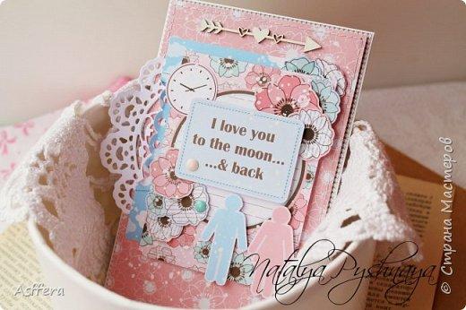 Всем привет!!!А у меня на сегодня нежная открытка!I love you to the moon...& back... фото 1