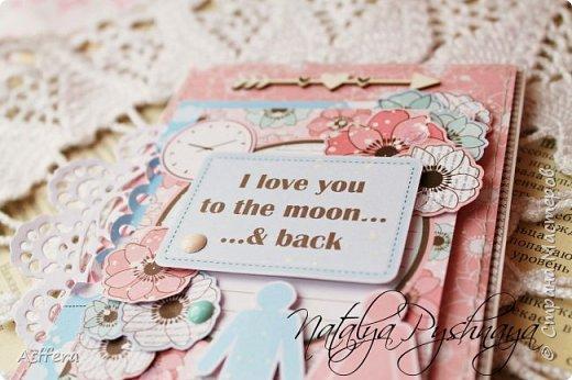 Всем привет!!!А у меня на сегодня нежная открытка!I love you to the moon...& back... фото 4