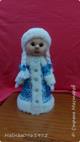 Снегурочка и Дед Мороз в чулочной технике фото 4