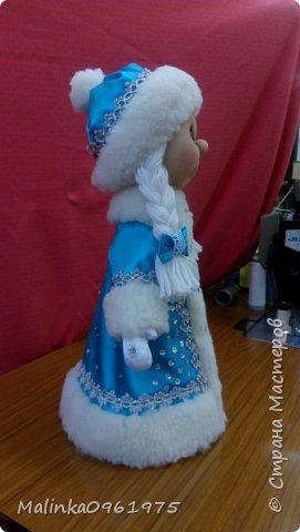 Снегурочка и Дед Мороз в чулочной технике фото 2