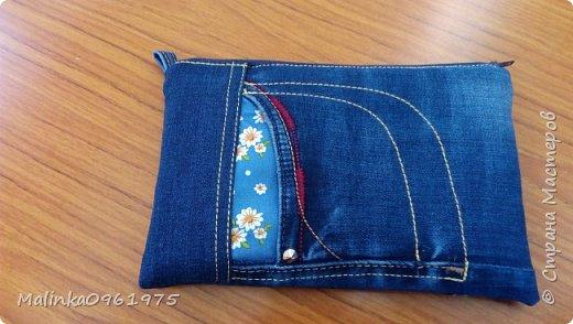 Чехол для телефона из старых джинс фото 5