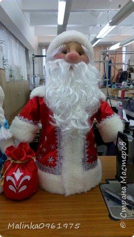 Снегурочка и Дед Мороз в чулочной технике фото 5