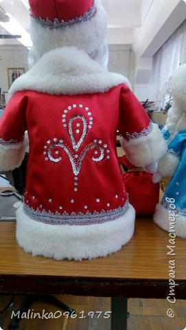 Снегурочка и Дед Мороз в чулочной технике фото 6
