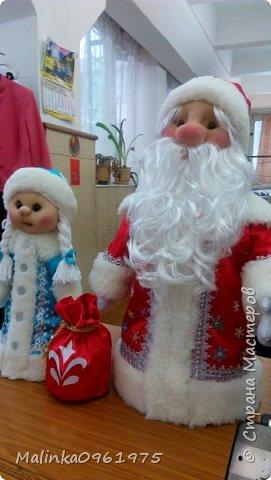 Снегурочка и Дед Мороз в чулочной технике фото 7