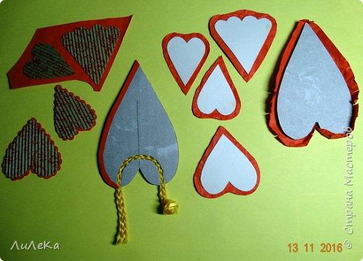 Я к вам с новогодними петушками. С сердечными! Все детали петушков в форме сердца. фото 9