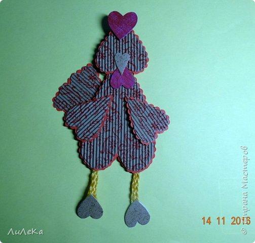 Я к вам с новогодними петушками. С сердечными! Все детали петушков в форме сердца. фото 11