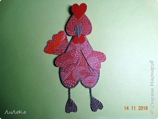 Я к вам с новогодними петушками. С сердечными! Все детали петушков в форме сердца. фото 12