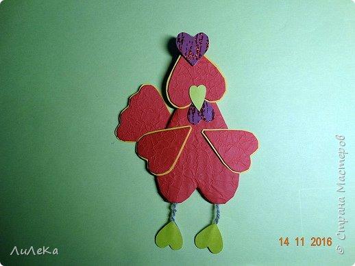 Я к вам с новогодними петушками. С сердечными! Все детали петушков в форме сердца. фото 13