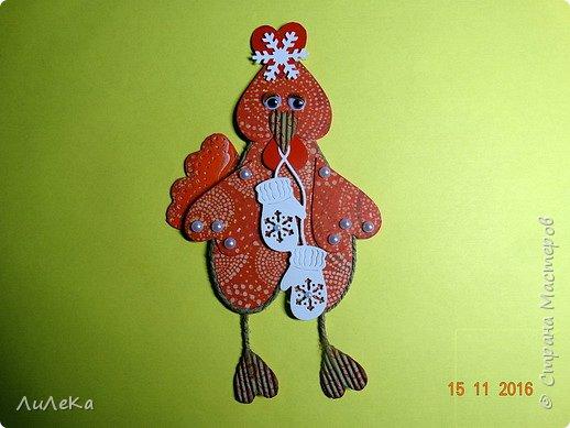 Я к вам с новогодними петушками. С сердечными! Все детали петушков в форме сердца. фото 21