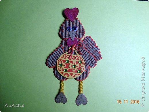 Я к вам с новогодними петушками. С сердечными! Все детали петушков в форме сердца. фото 23
