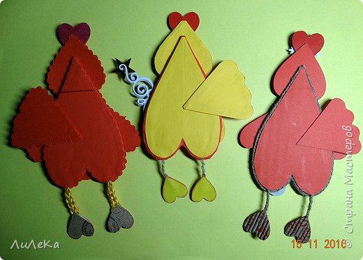 Я к вам с новогодними петушками. С сердечными! Все детали петушков в форме сердца. фото 17