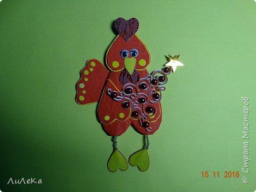 Я к вам с новогодними петушками. С сердечными! Все детали петушков в форме сердца. фото 20