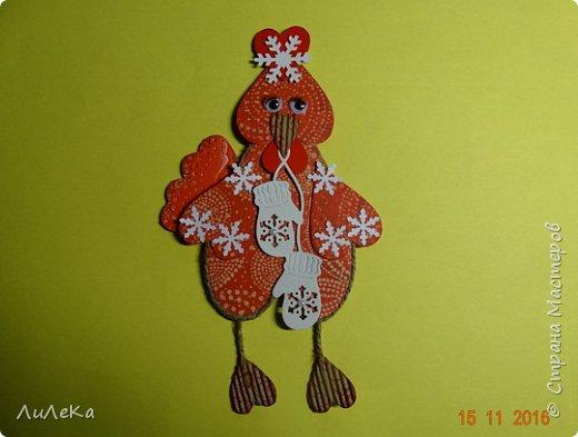 Я к вам с новогодними петушками. С сердечными! Все детали петушков в форме сердца. фото 22