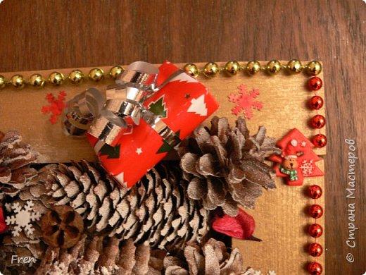Всем прекрасного времени суток и хорошего настроения!!!!  В прошлом году я дарила в подарок своим близким по новогодней картине и даже делала МК:  http://stranamasterov.ru/node/982422 Но сделать себе такую так руки и не дошли. И вот в этом году я ее все таки сделала и решили вам всем показать. :)))  фото 5