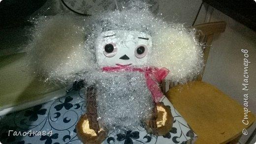 Игрушка на ёлку из бросовых материалов фото 4