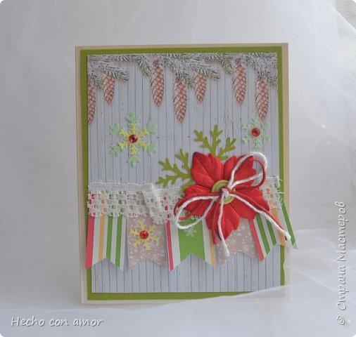Вот такие зимние открыточки у меня появились в этом году.  Они небольшого формата, примерно 9,5х12 см. Приятного просмотра! фото 4