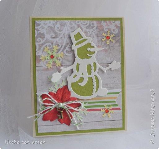 Вот такие зимние открыточки у меня появились в этом году.  Они небольшого формата, примерно 9,5х12 см. Приятного просмотра! фото 5