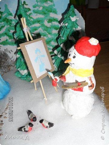 Вот такую поделку мы сделали в садик. Обязательное условие было - наличие Снегурочки. фото 32