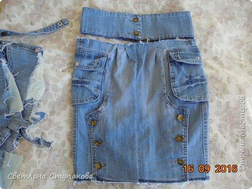 Очень люблю джинсу . Вот и появились следующие две сумки-сестрички. Вид спереди - всё строго и лаконично. фото 10