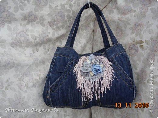Представляю Вашему вниманию переделку  джинсов  в две сумочки. фото 12